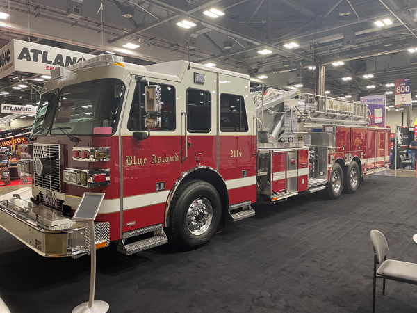 new Sutphen SL100 for the Blue Island Fire Department
