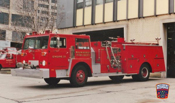 Hendrickson Pirsch fire engine in Milwaukee