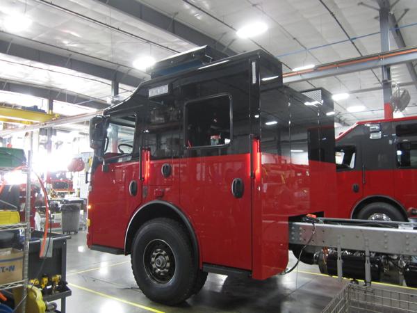 Rosenbauer fire truck being built for the Frankfort FPD