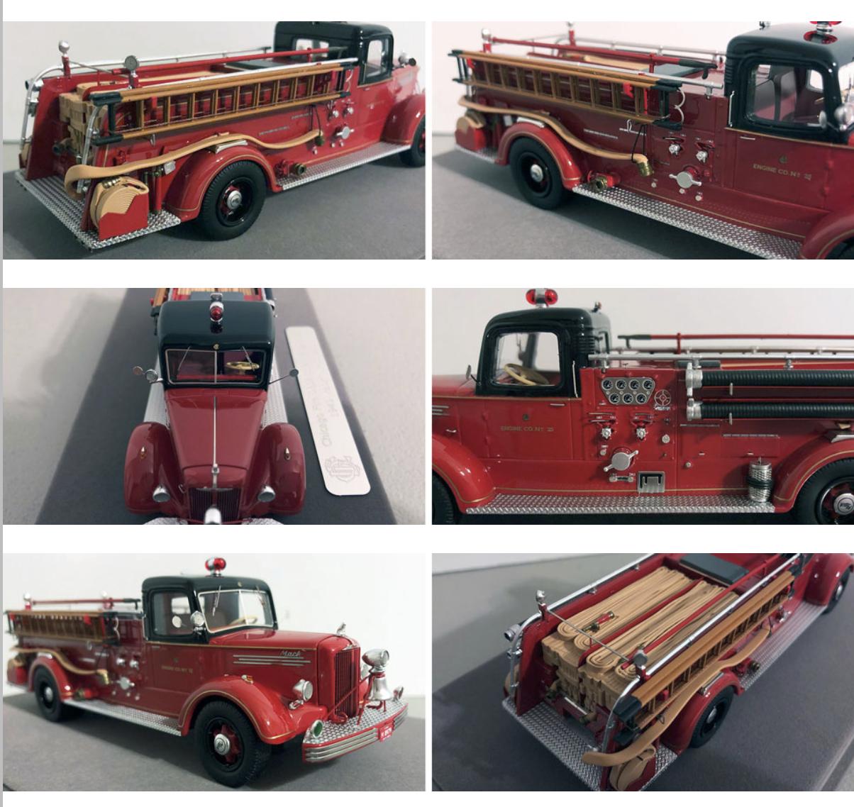 historic Chicago FD replica model