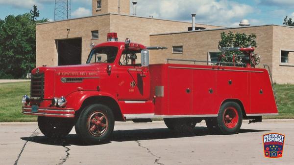 Vintage Milwaukee fire engine