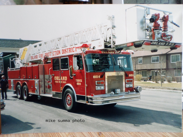 Orland FPD Truck 6014, a 1988 Spartan/LTI 1500/0/100' tower