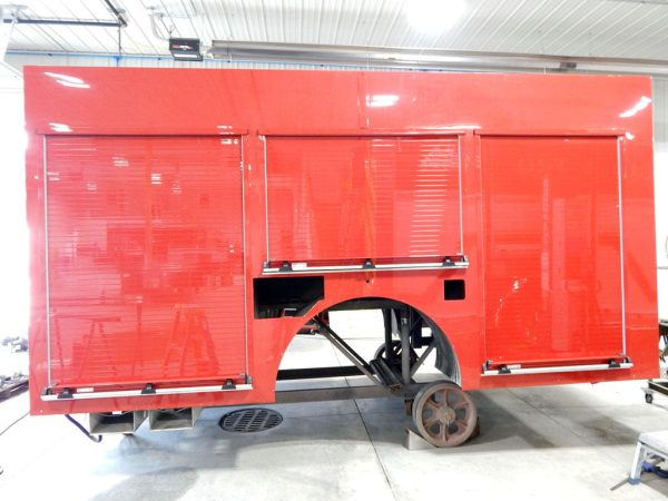 Crete Township FPD fire engine being refurbished by Alexis Fire Equipment