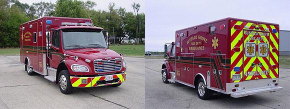 new Buffalo Grove FD ambulance - Freightliner - Horton Type 1
