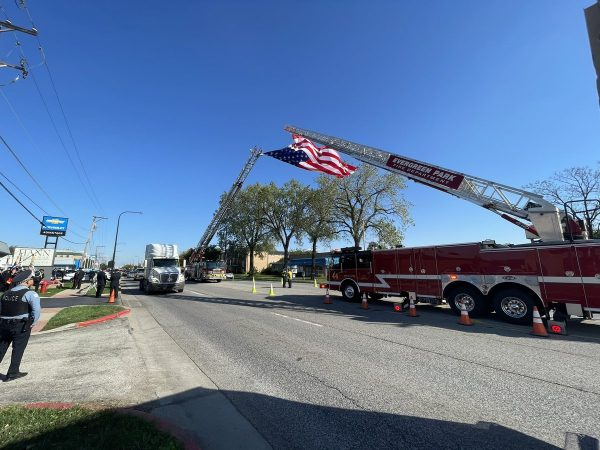 Services for member Michael Pickering. CFD thanks Burbank and Evergreen Park for providing flag trucks at services.
