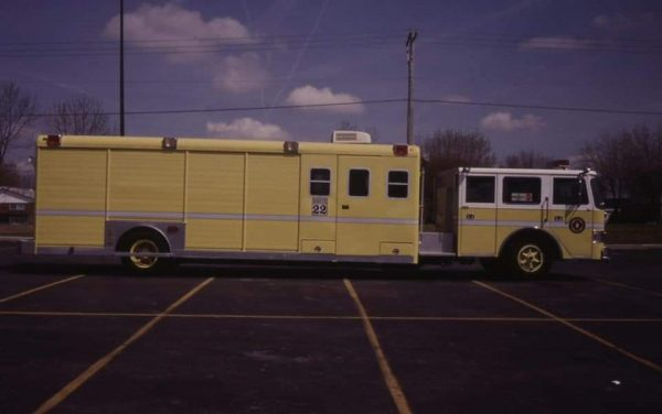 1984 Pierce Arrow chassis was  refurbed in 1995 into the above with an Ideal Beverage body & refurbed again in 2000 by RPI and sold to Peotone, IL.