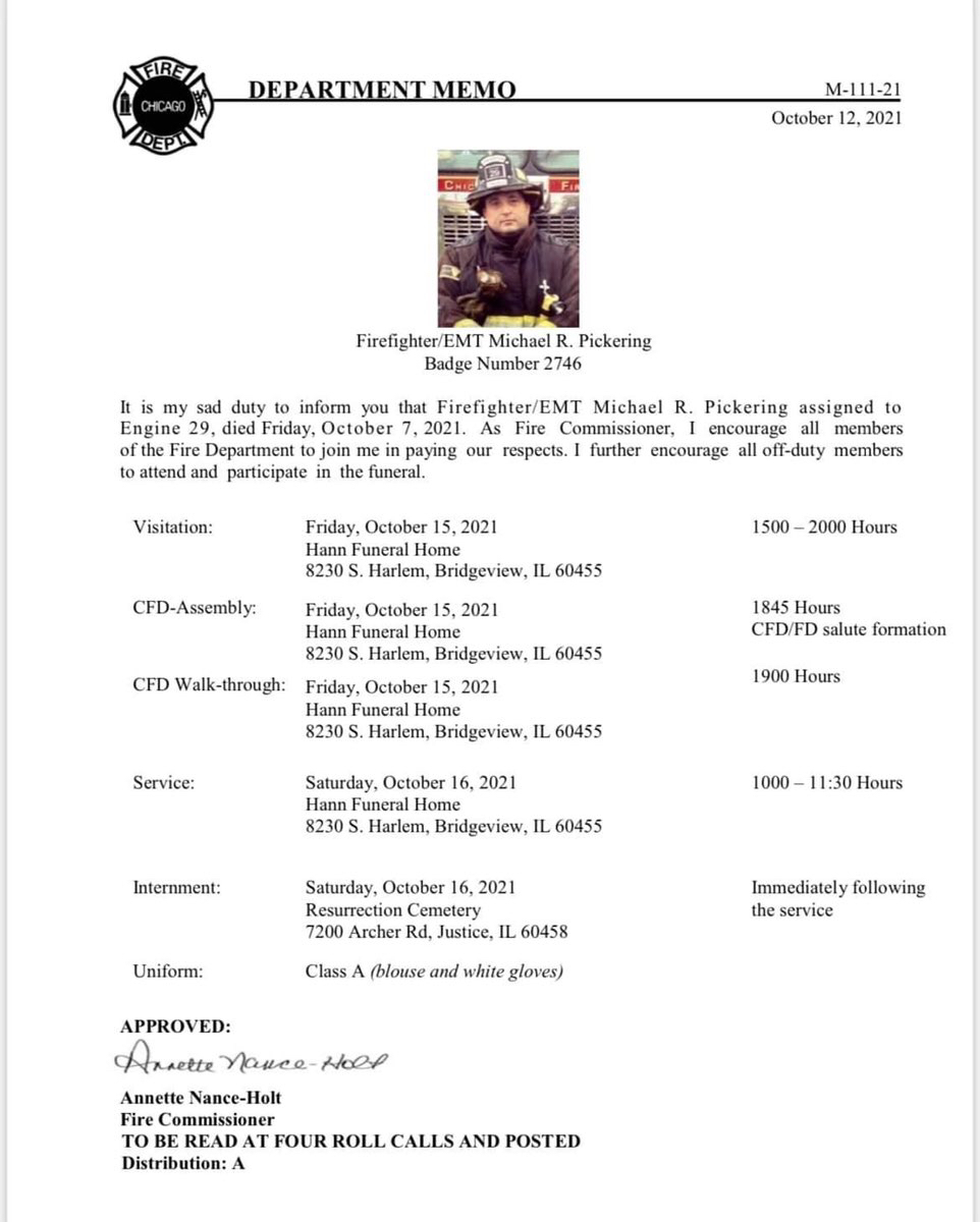 Firefighter Michael Pickering age 45, of ENGINE 29 passed away after contracting COVID-19