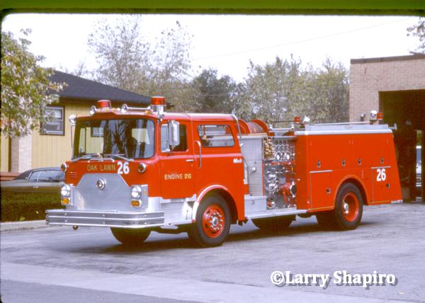 mack CF fire engine in Oak Lawn IL
