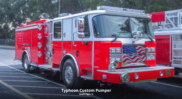 2021 E-ONE Typhoon fire engine for the South Elgin & Countryside FPD in Illinois