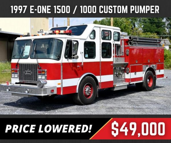 former Warrenville FPD 1997 E-ONE fire engine for sale