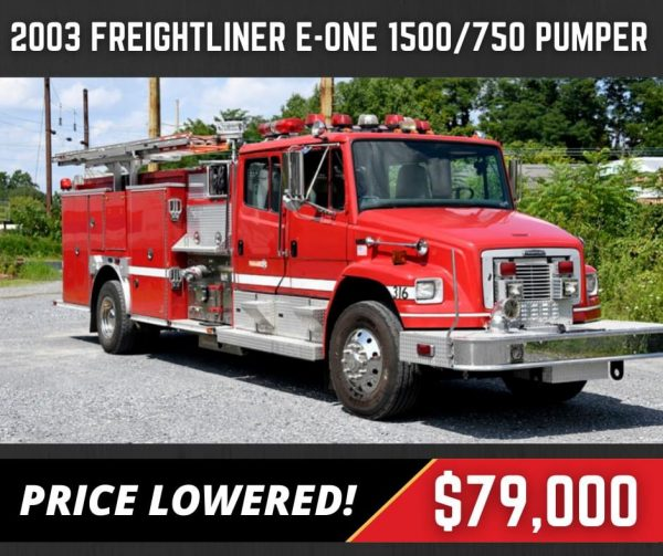 former Naperville FD 2003 Freightliner E-ONE fire engine for sale