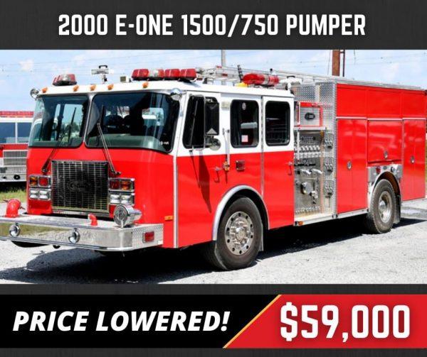 former Elmhurst FD 2000 E-One fire engine for sale