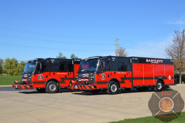 New Rosenbauer Commander fire engines in Bartlett, IL