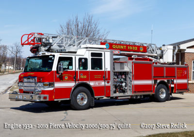 Great Lakes FD Engine 1932 2010 Pierce Velocity 2000/500 75' quint
