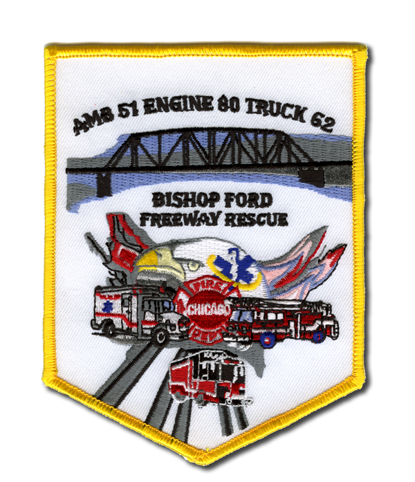 Chicago FD Truck 80s patch
