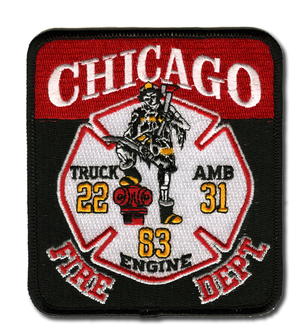 Chicago FD Engine 83, Truck 22 & Ambulance 31 patch