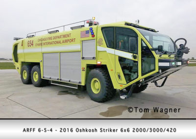 Chicago FD ARFF 6-5-4 at O'Hare Airport