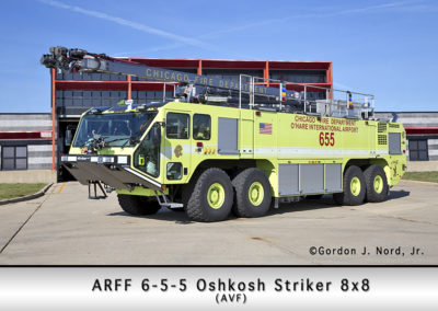 Chicago FD ARFF 6-5-5 at O'Hare Airport
