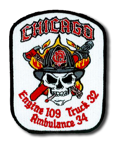 Chicago FD Engine 109 Truck 32 Ambulance 34 patch
