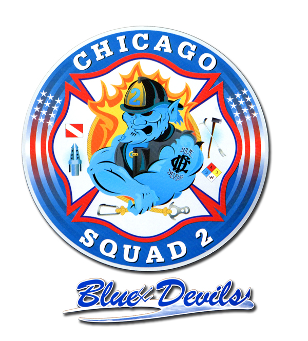 Chicago FD Squad 2's decal