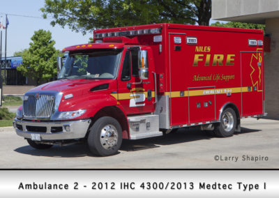 Niles Fire Department Ambulance 2