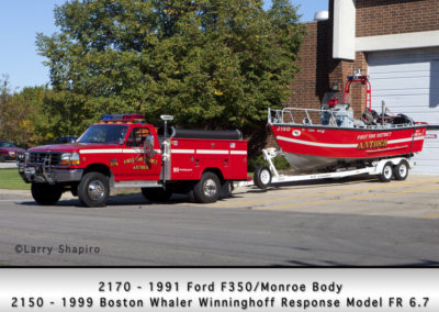 Antioch Fire Department 2170 and Boat 2150