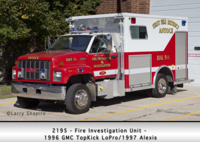 Antioch Fire Department 2195 Fire Investigation Unit