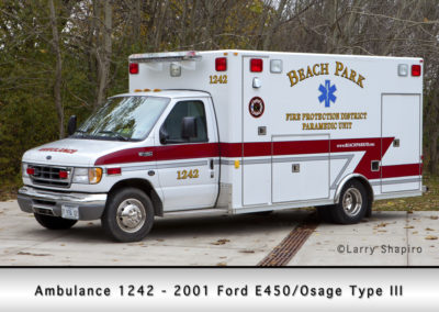 Beach Park Fire Department Ambulance 1242