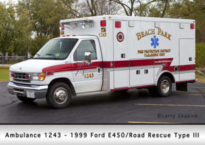 Beach Park Fire Department Ambulance 1243