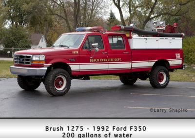 Beach Park Fire Department Brush 1275