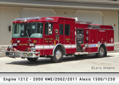 Beach Park Fire Department Engine 1212