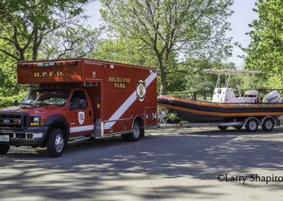 Highland Park Fire Department Dive Rescue and Boat 34