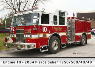 Northbrook Fire Department Engine 10R