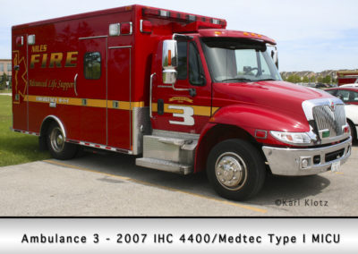 Niles Fire Department Ambulance 3R
