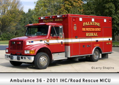 Palatine Rural Fire Protection District Ambulance 36