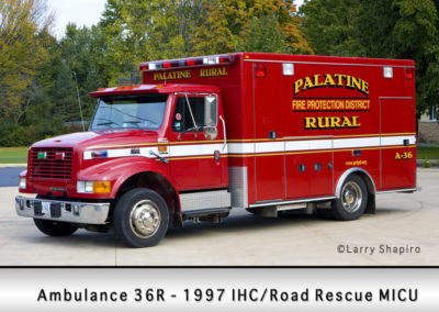 Palatine Rural Fire Protection District Ambulance 36R