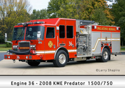 Palatine Rural Fire Protection District Engine 36