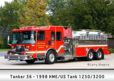 Palatine Rural Fire Protection District Tanker 36