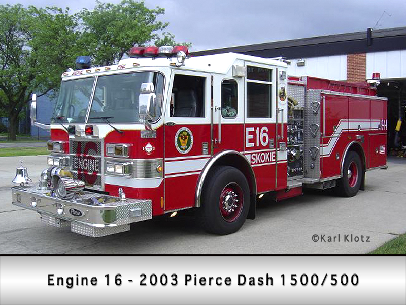 Skokie Fire Department Engine 16
