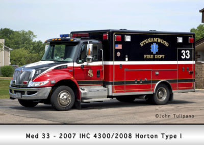 Streamwood Fire Department Medic 33