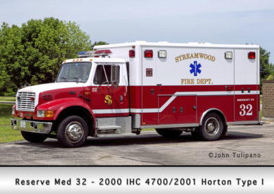 Streamwood Fire Department Medic 33R