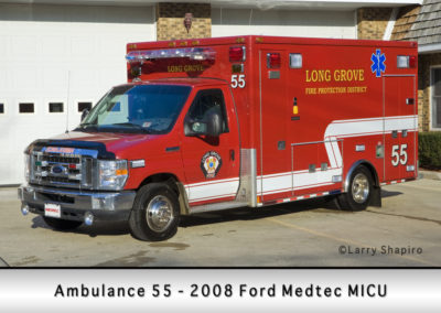 Long Grove FPD Ambulance 55R - 2008 Ford Medtec Type III