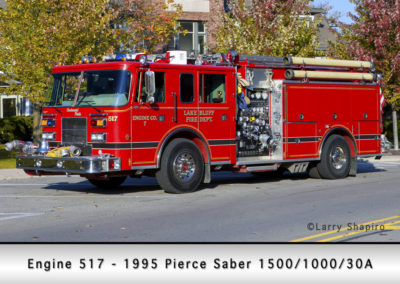 Lake Bluff Engine 517 - 1995 Pierce Saber 1500/1000/30A
