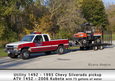 Newport Township FPD Utility 1492 - 1995 Chevy Silverado pickup and ATV 1452 - 2006 Kubota 75 GWT