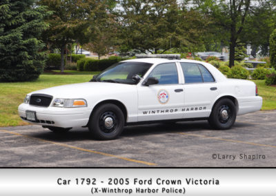Winthrop Harbor Car 1792 - 2005 Ford Crown Victoria
