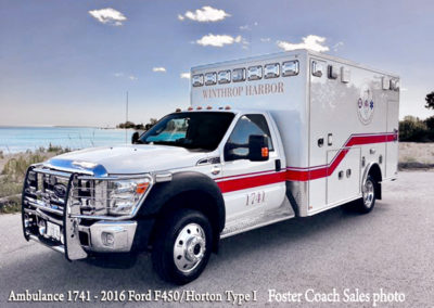 Winthrop Harbor Ambulance 1741 - 2016 Ford F450/Horton Type I