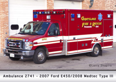Grayslake FD Ambulance 2741 - 2007 Ford E450/2008 Medtec Type III