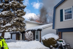 House fire at 605 Patton Drive in Buffalo Grove, IL 2-1-21. Larry Shapiro photo