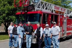 George and other fire apparatus enthusiasts documenting apparatus Stickney.