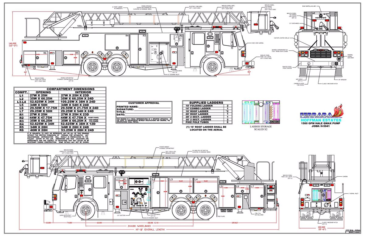 Ferrara Fire Apparatus Wiring Diagram Library 12 Volt Horn Fiamm Product Rear Mount Tower Ladder From